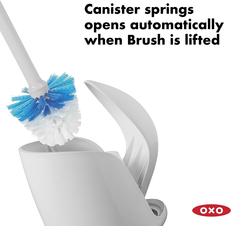 OXO Good Grips Hideaway Compact Toilet Brush-Gray