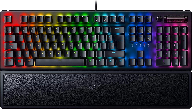 Razer BlackWidow V3 - Teclado mecánico para juegos Premium, teclado mecánico con interruptores verdes, toque y clic, iluminación cromática RGB, teclas ...