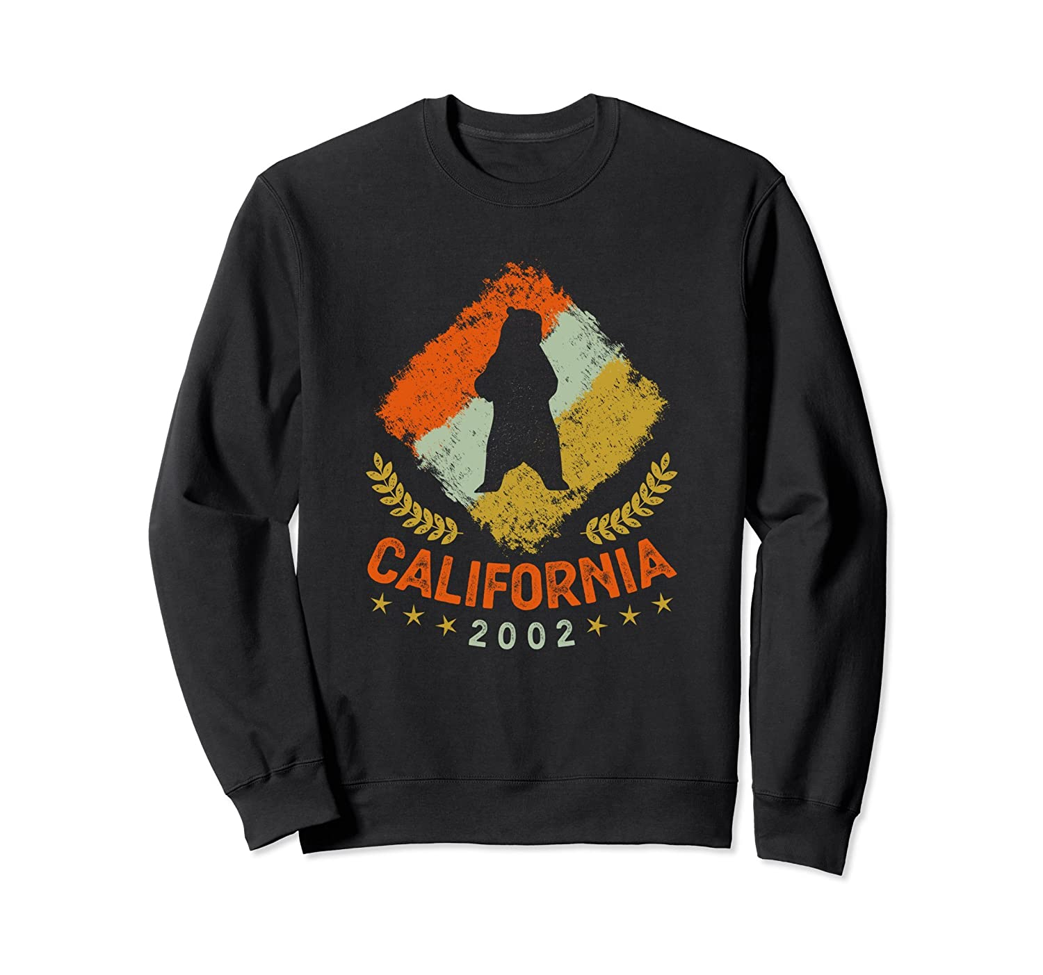 2002 Vintage Birthday Gift California Retro Bear Sweatshirt-AZP