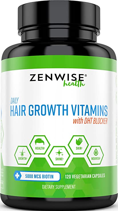 Hair Growth Vitamins >> Hair Growth Vitamins Supplement 5000 Mcg Biotin Dht Blocker Hair Loss Treatment For Men Women 2 Month Supply Vitamin A E To Stimulate