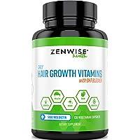 Hair Growth Vitamins Supplement - 5000 mcg Biotin & DHT Blocker Hair Loss Treatment for Men & Women - 2 Month Supply…