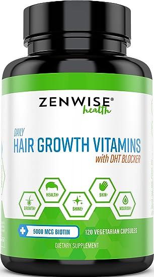 Hair Growth Vitamins >> Hair Growth Vitamins Supplement 5000 Mcg Biotin Dht Blocker Hair Loss Treatment For Men Women 2 Month Supply Vitamin A E To Stimulate