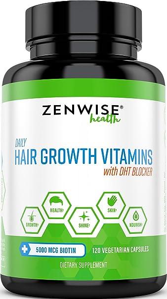Hair Growth Vitamins >> Hair Growth Vitamins Supplement 5000 Mcg Biotin Dht Blocker Hair Loss Treatment For Men
