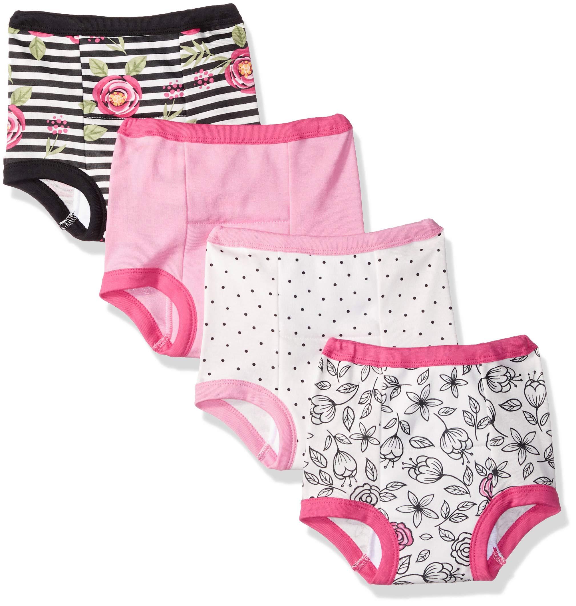 Lamaze Girls' Toddler Organic 4 Pack Training Pants, White, 2T