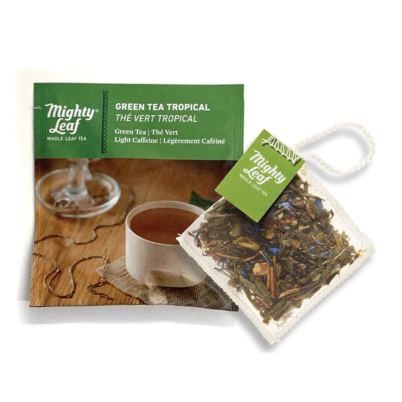 Amazon Com Mighty Leaf Tea Green Tea Tropical Tea Pouches 100ct Green Tea Bags In Individual Foil Packs Grocery Tea Sampler Grocery Gourmet Food