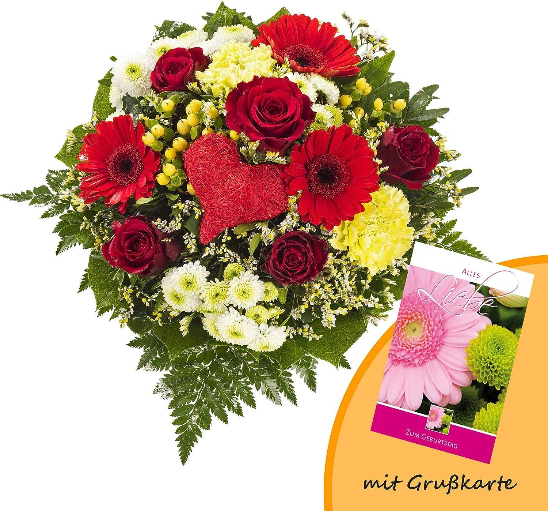Blumenstrau/ß Blumenversand Happy Day Gratis Gru/ßkarte+Wunschtermin+Frischhaltemittel+Geschenkverpackung