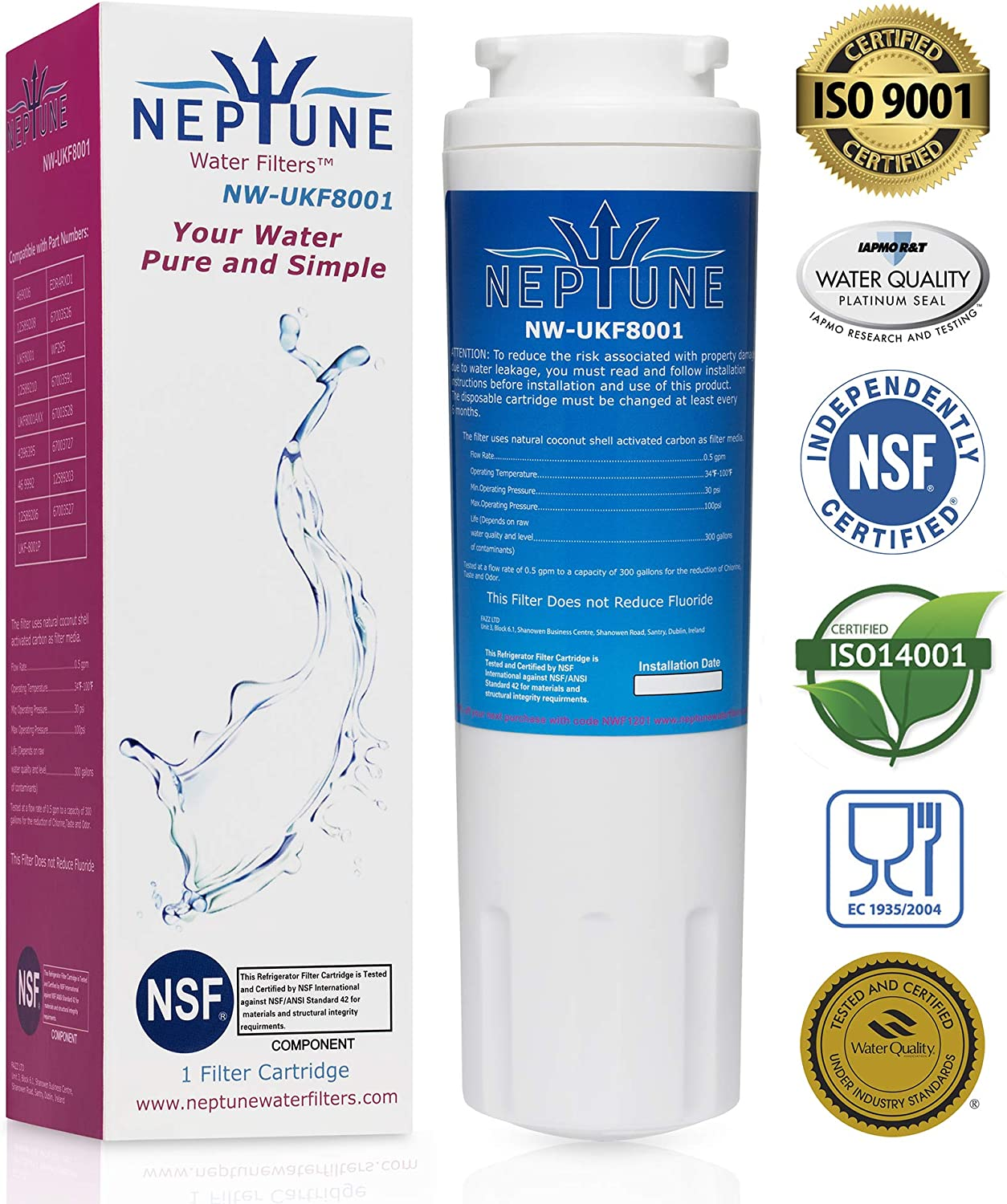 Neptune Water Filters Replacement for Refrigerator Water Filter (1)
