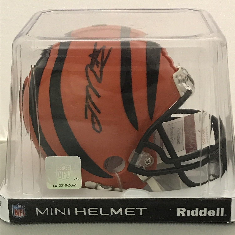 98b3f38352c ... Autographed Signed Joe Mixon Cincinnati Bengals Football Mini Helmet JSA  COA