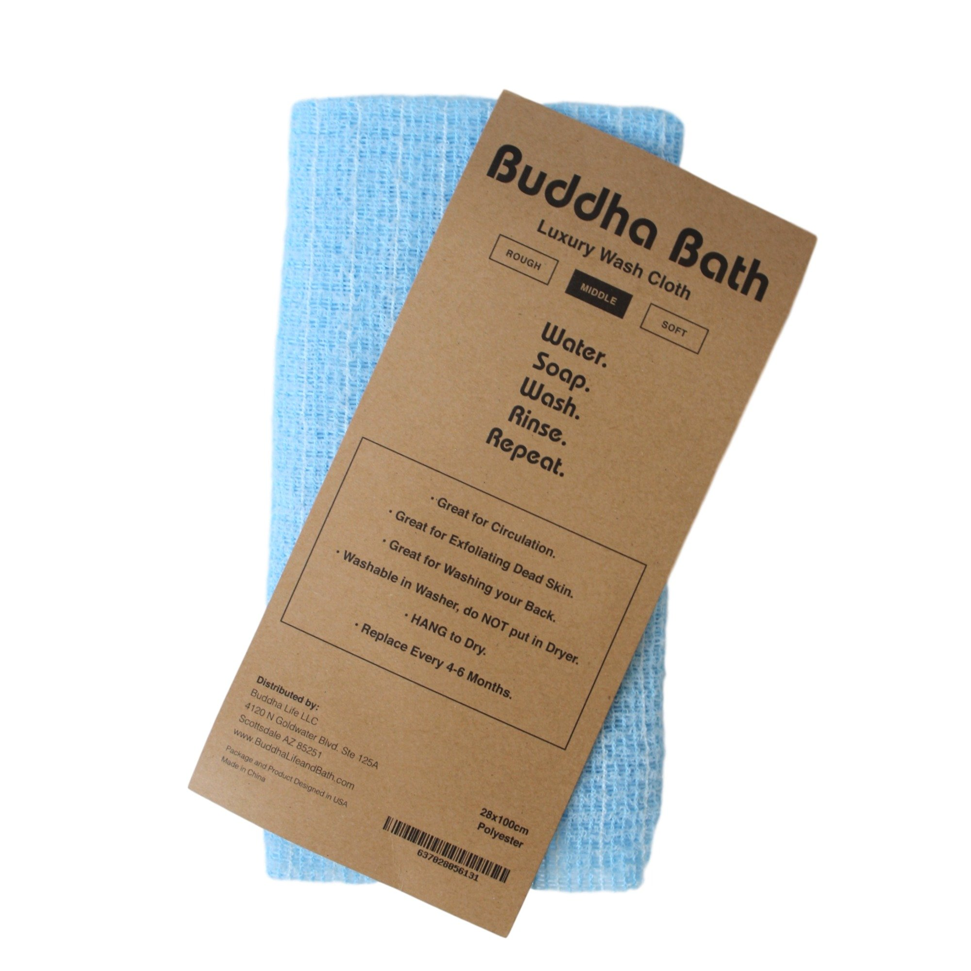 Amazon.com: Aquasentials Exfoliating Bath Cloth (4 Pack ...