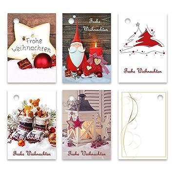 Geschenkanhänger Frohe Weihnachten.25er Pack Geschenkanhänger Frohe Weihnachten Ca 52 X 74 Mm Verschiedene Motive Anhänger Weihnachtsanhänger Geschenkkarte Geschenkkärtchen