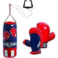 Franklin Sports Future Champs - Juego de Mini Boxeo para niños, Incluye Guantes de Boxeo para niños, Saco de Boxeo y Soporte para atasco de Puerta con Cuerda para Saco de Boxeo Ajustable