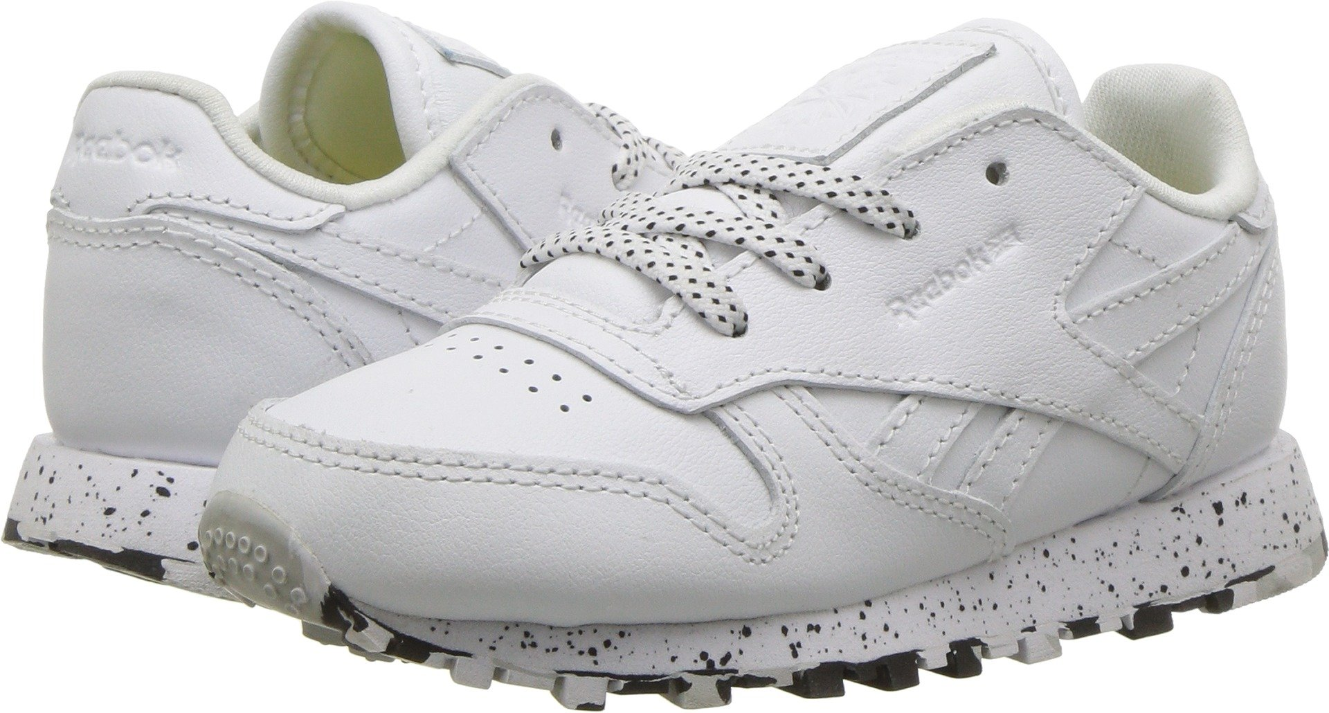 a972a89f02c98 Galleon - Reebok Kids Unisex Classic Leather (Infant Toddler) White Black 6  M US Toddler