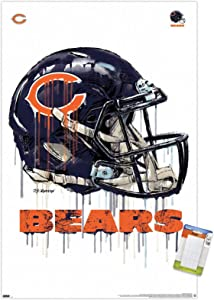 Trends International NFL Chicago Bears - Drip Helmet 20 Wall Poster, 22.375