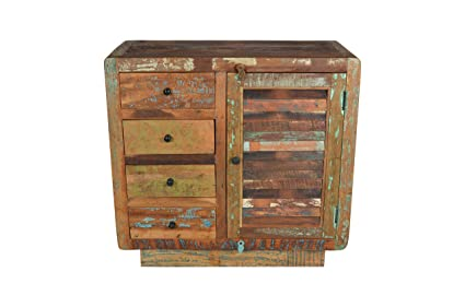 Charmant Morell Four Drawer Wooden Cabinet, Rustic Storage Chest For Living Room,  Dining Room,