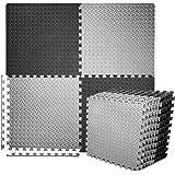 BEAUTYOVO Puzzle Exercise Mat with 12/24 Tiles Interlocking Foam Gym Mats, 24'' x 24'' EVA Foam Floor Tiles, Protective…