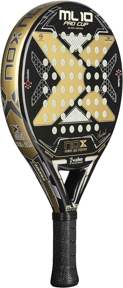 NOX Pala de pádel ML10 Pro Cup Black Edition: Amazon.es: Deportes ...
