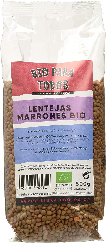 Bio para todos Lentejas Marrones - 10 Paquetes de 500 gr ...