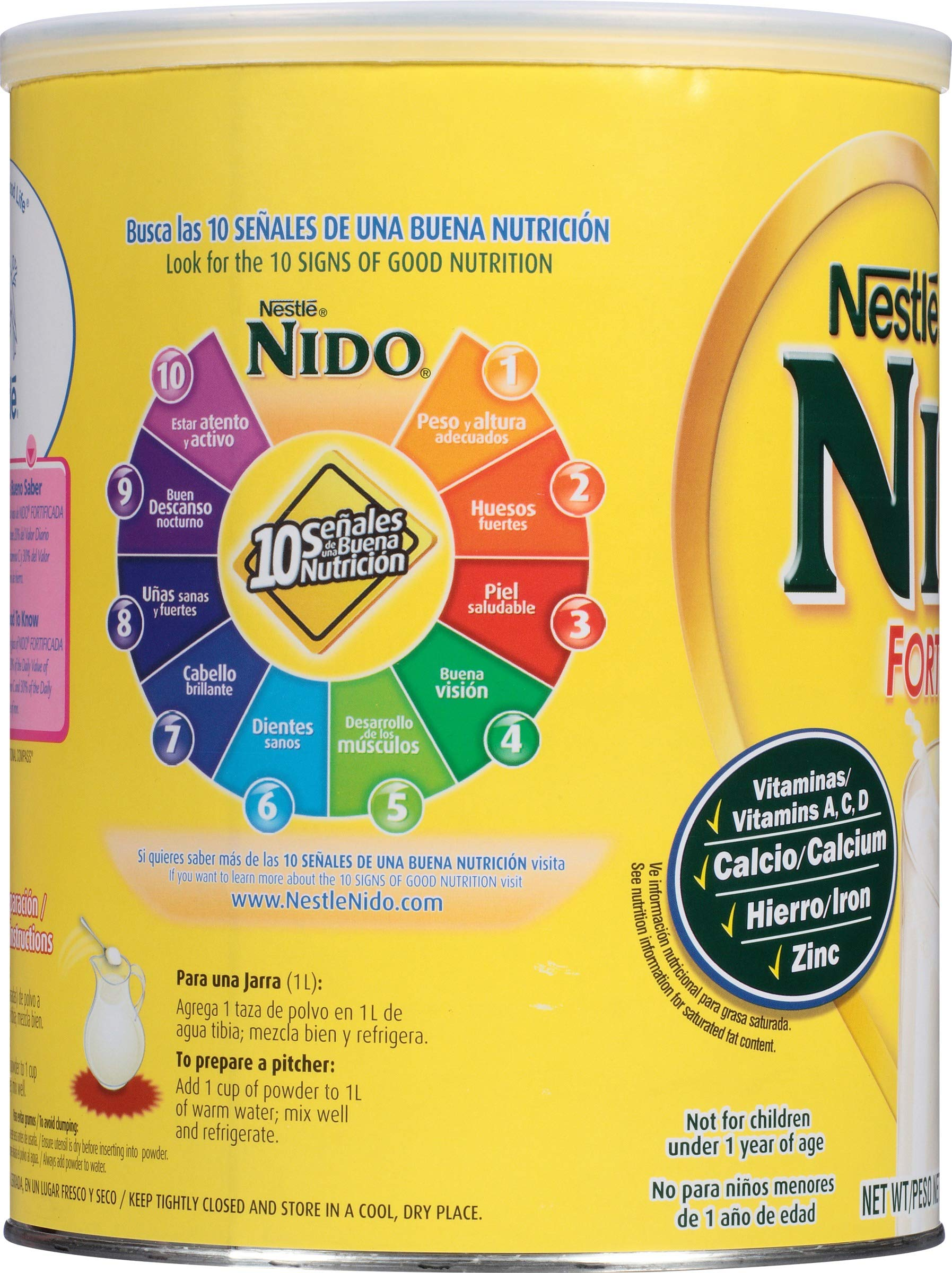NIDO Fortificada Dry Milk 56.3 oz. Canister, Pack of 4 by Nido (Image #2)