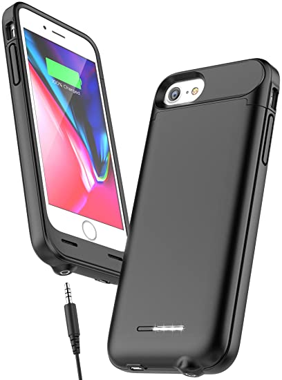 newest 53628 6f1d3 iPhone 7 Battery Case with 3.5mm Headphone Jack - AudioMod (Smart Power  Reserve) Slim Charging Case (3000mAh High Capacity)