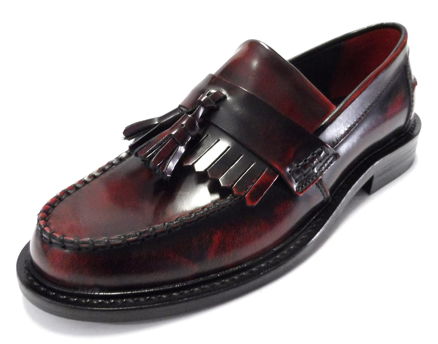 Delicious Junction Rudeboy Tassel Loafers Mod Shoe OxBlood