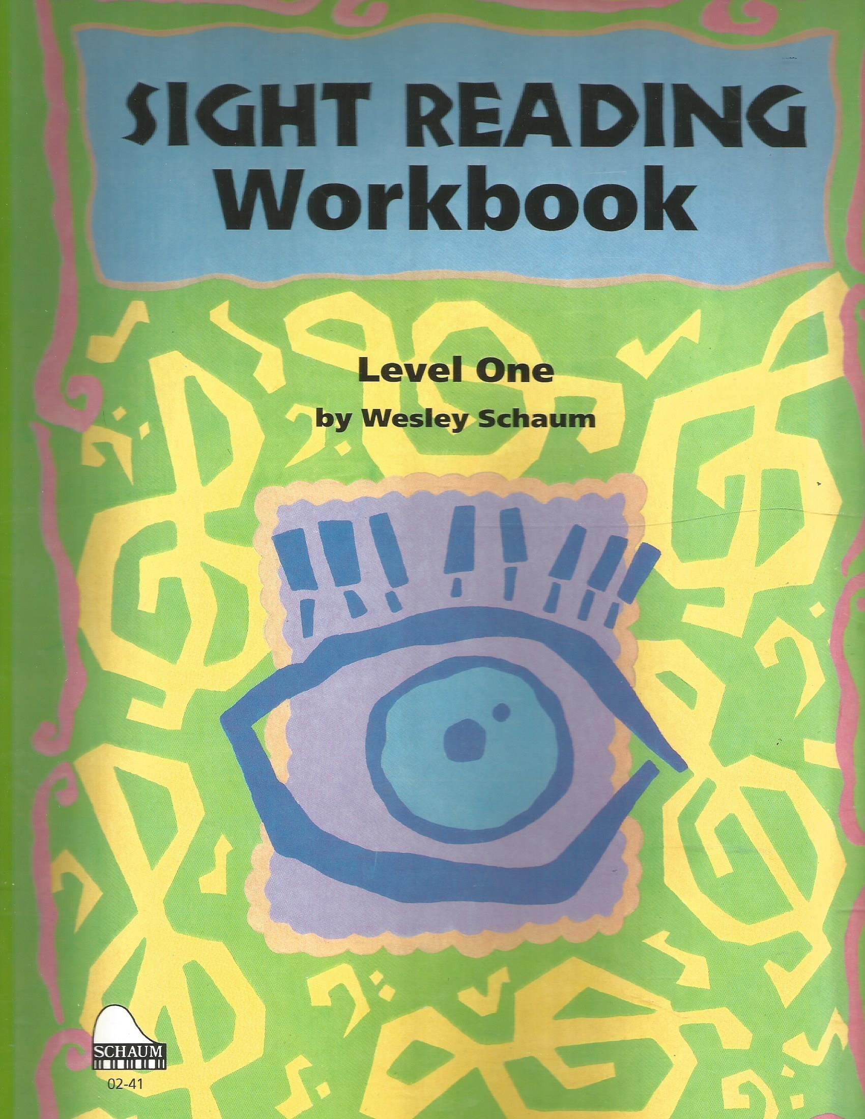 Sight Reading Workbook: Level 1 (Schaum Publications Sight Reading Workbook)