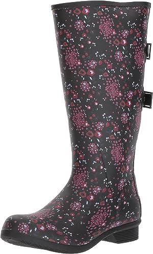 Chooka Women's Fleece Rain Boot Liner, Multi, 8 M US
