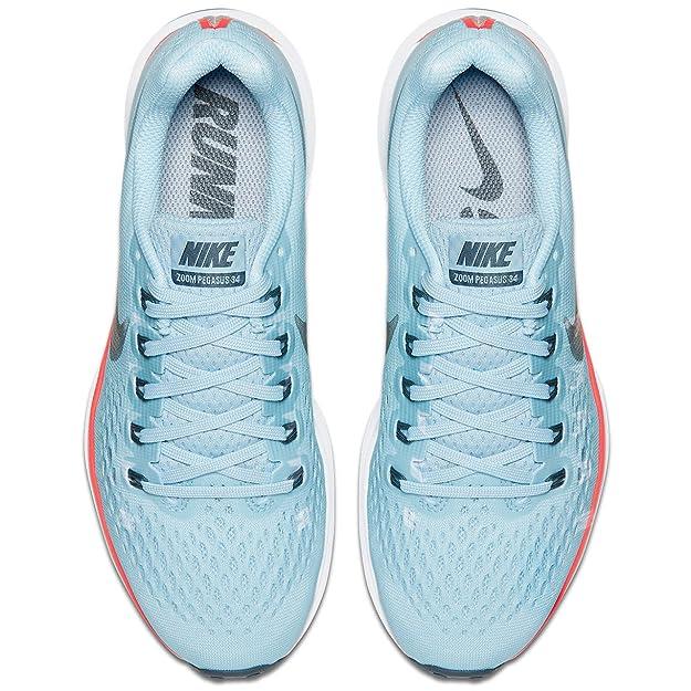 sale retailer 8ca4c cd840 Amazon.com   Nike Women s WMNS Air Zoom Pegasus 34, ICE Blue Blue Fox, 11.5  M US   Road Running
