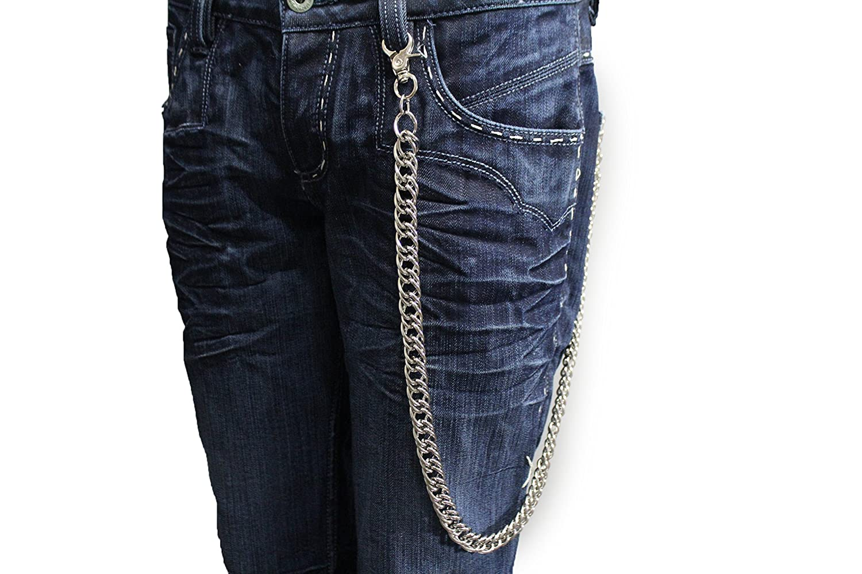 Amazon.com: tfj Hombres Biker Fashion Wallet Cadena de metal ...