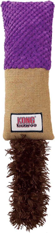 KONG - Kickeroo - Juguete con Hierba gatera de Norteamérica (los Colores Pueden Variar) - Cuddler