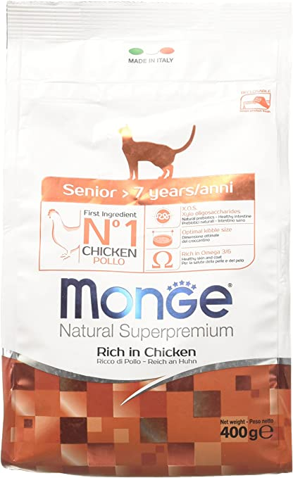 Monge Natural Superpremium Senior, alimento para Gatos, 400 g: Amazon.es: Productos para mascotas