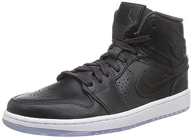 Jordan Nike Men's Air 1 Mid Anthracite/White Basketball Shoe 9 Men US