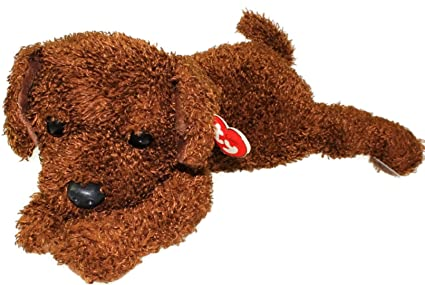 4d8fd06d4dc Amazon.com  TY Classic Plush - FLOPPER the Brown Dog by Ty  Toys   Games