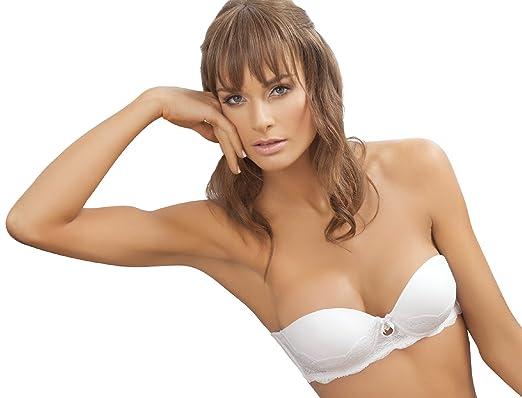 90c78ba61eedd Laura High Quality White Strapless Bra  SL101041 (38B)  Amazon.co.uk   Clothing