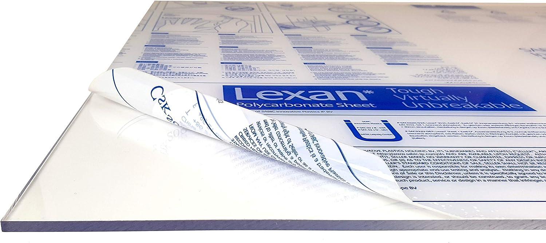 Transparente Elige Tama/ño: con Protecci/ón UV LEXAN/® 100 x 190 cm 8mm Placas de Policarbonato Alveolar Celular para Exteriores