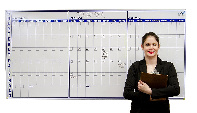 Amazon Com Large Dry Erase Wall Calendar 3 Month 36 X 72 Big