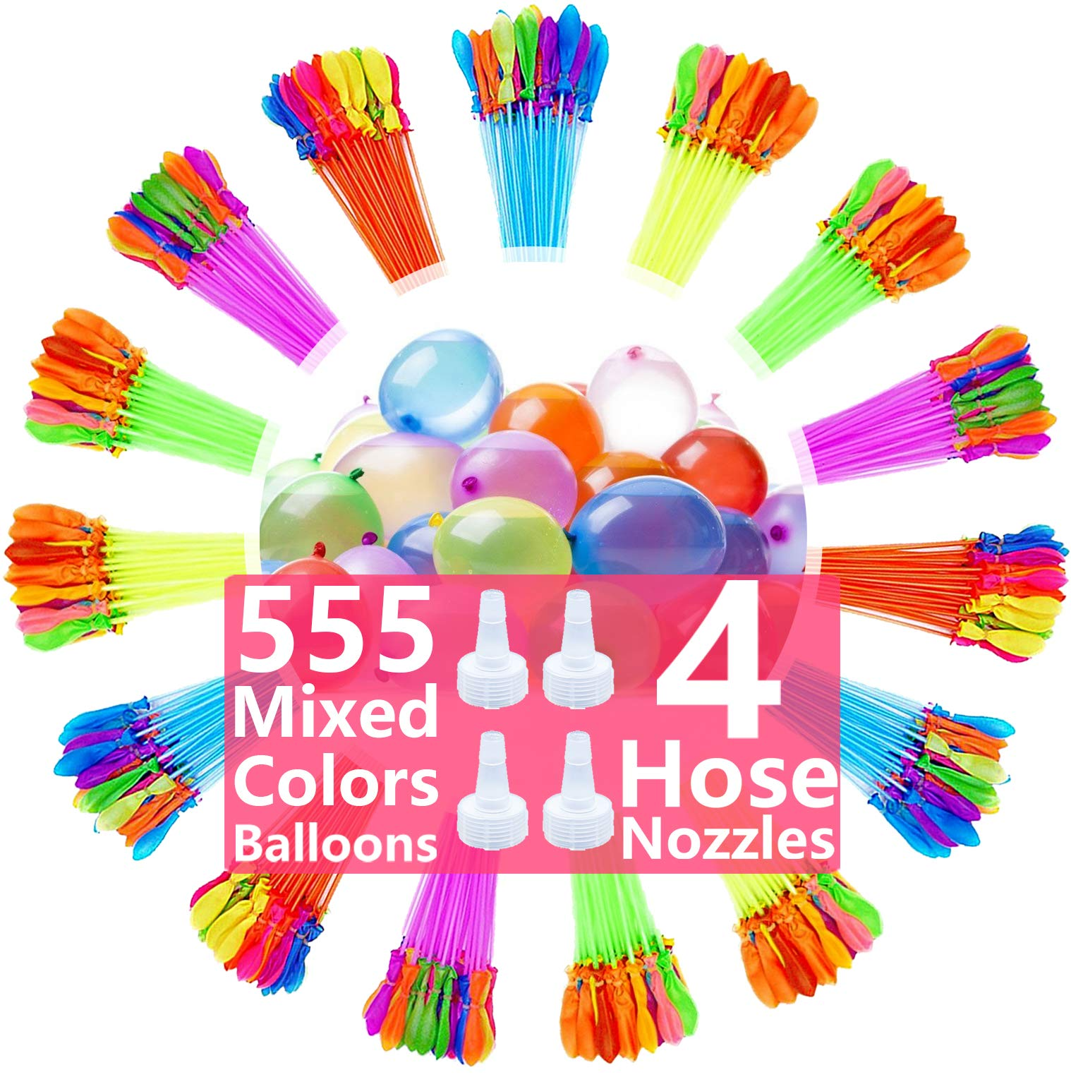 Water Balloons for Kids Girls Boys Balloons Set Party Games Quick Fill Water Balloons 555 Bunches Swimming Pool Outdoor Summer Fun Y11C by Magic balloons