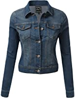 J.TOMSON Women's Longsleeve Button-Up Denim Jacket with Chest Pockets