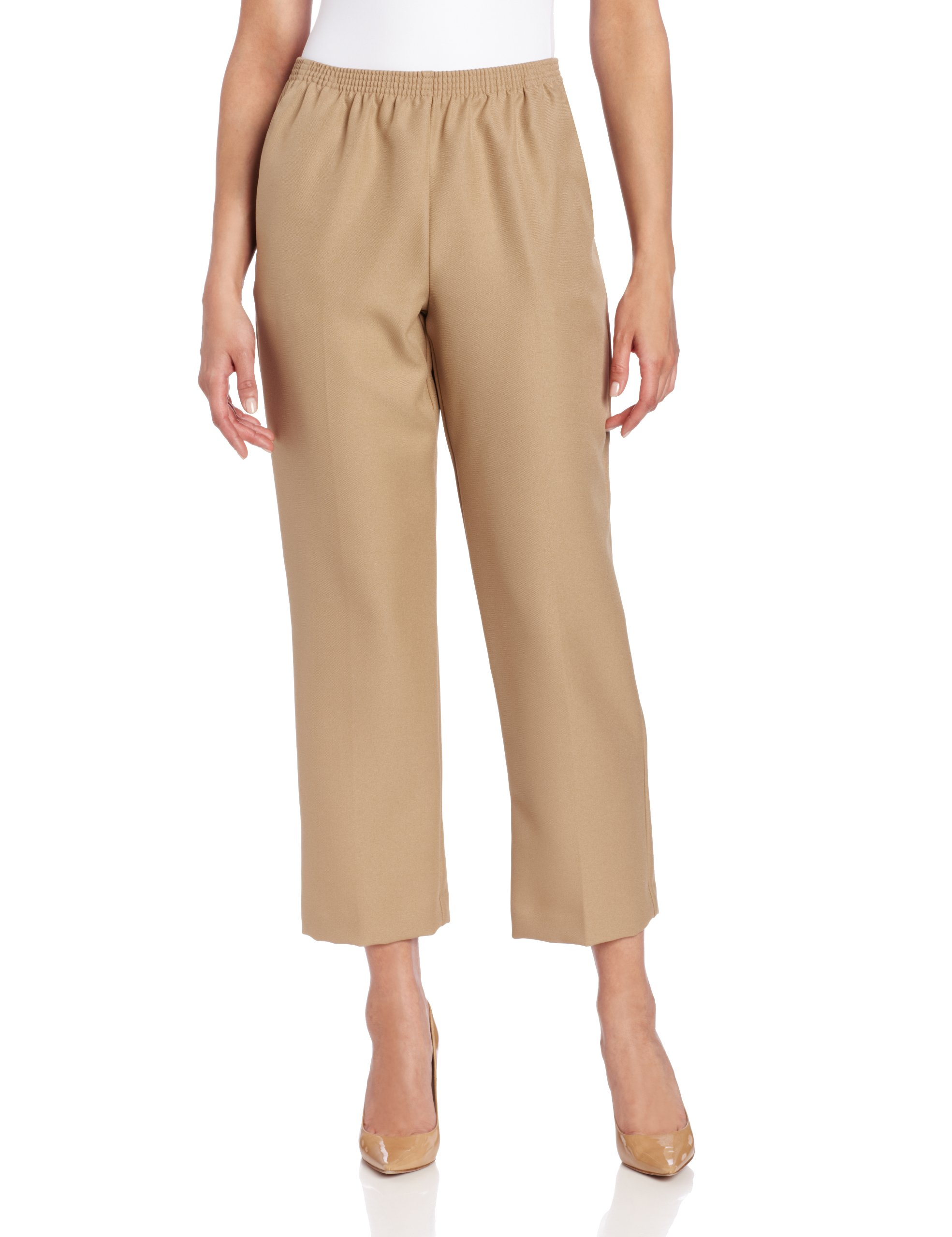 Alfred Dunner Women's Short Pant,Tan,18 by Alfred Dunner (Image #1)