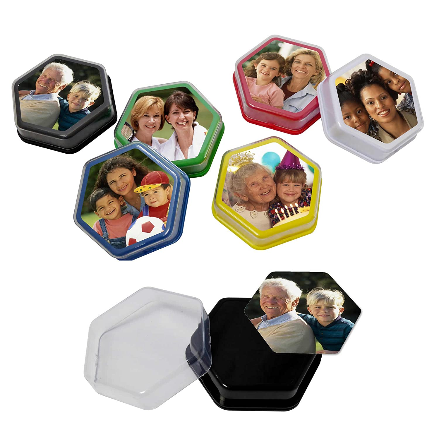 Pack of 6 Talking Tiles Ideal for speaking listening activities and independent living Voice Recorder 80 seconds recording