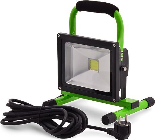 Faro Luz Foco LED 20 W 240 V 1600lumen lámpara de trabajo Lámpara de jardín Iluminación exterior lámpara portátil para interiores y exteriores.: Amazon.es: Iluminación