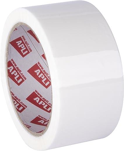 APLI 11941 - Pack de 36 rollos de precinto, 48 mm x 66 m, 28 µm, color blanco: Amazon.es: Oficina y papelería