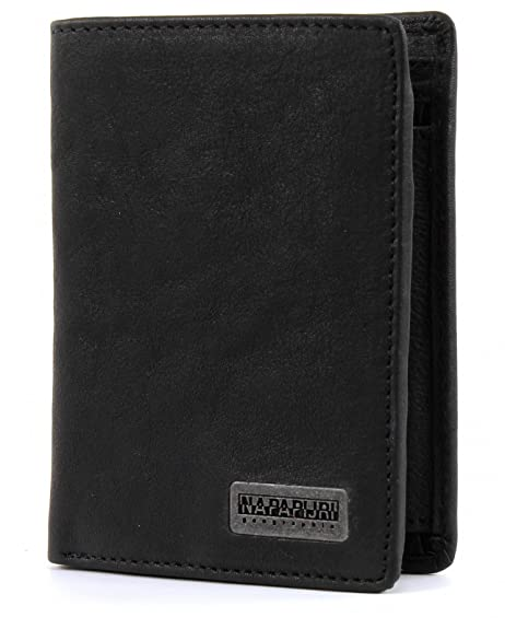 Napapijri Cartera Molde Washed Negro Única: Amazon.es ...