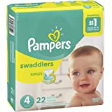 Diapers Size 4, 22 Count - Pampers Swaddlers Disposable Baby Diapers