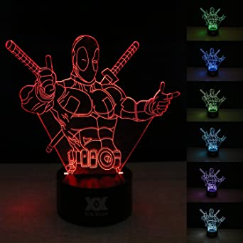 Hui Décor Lampe Lights Led Yuan 3d Touch Night Control Illusions nZNwk8OPX0