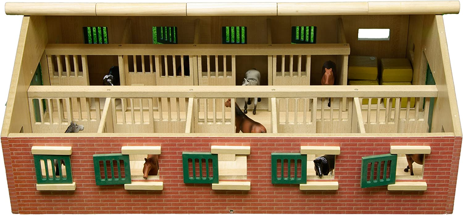 Van Manen 610544 Large wooden horse stable with 9 horse stalls
