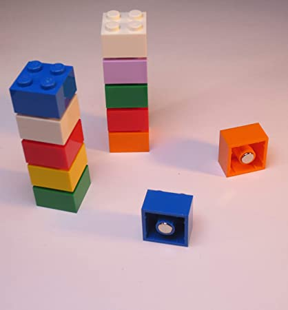 Imanes para tablón de anuncios magnético pizarra o Frigorífico/imanes de aprendizaje de neodimio, imanes, 10 unidades, multicolor.