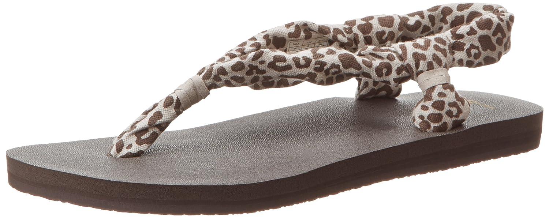 Sanuk Women's Yoga Slingshot Flip Flop,Grey Snake,6 M US