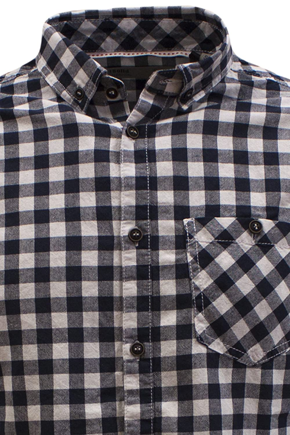 !Solid Men's Samwise Checkered Long Sleeve Casual Shirt