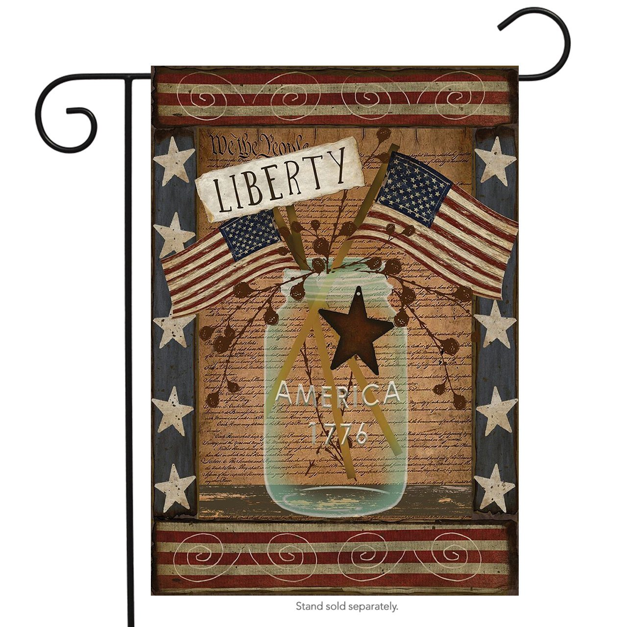 Amazon.com : Liberty Primitive Patriotic Garden Flag Declaration of ...