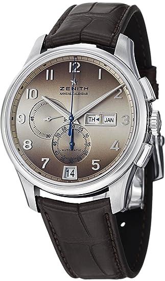 Zenith Capitán Winsor - Reloj automático para hombre, calendario anual 03-2072-4054-18-C711: Zenith: Amazon.es: Relojes